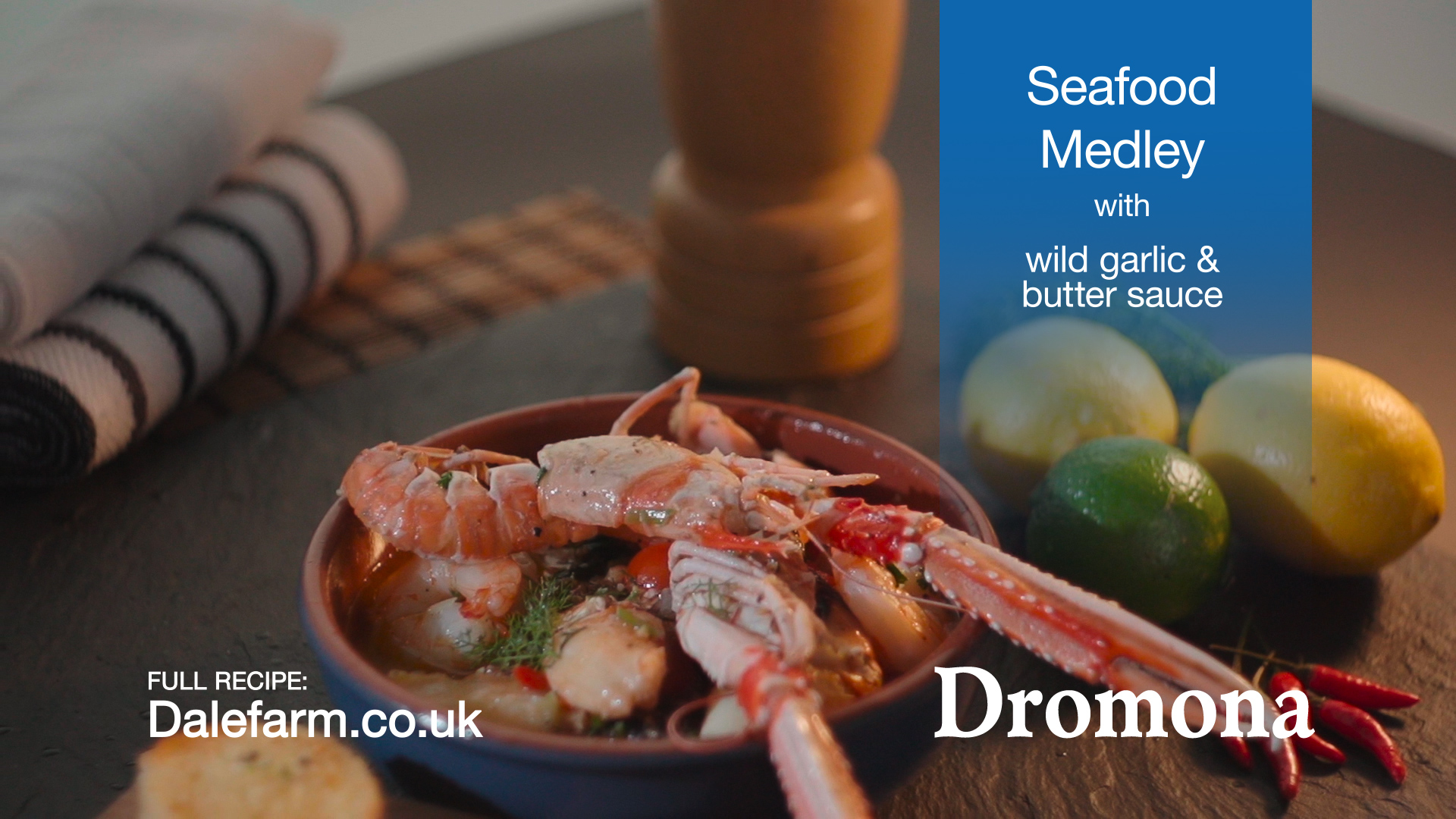 04. Seafood Medley with wild garlic  butter sauce